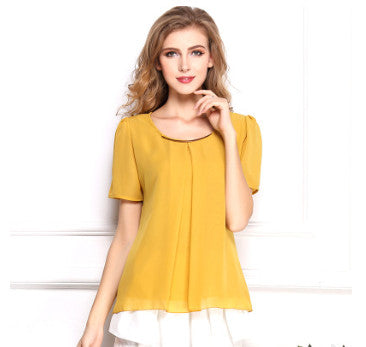 USA SIZE Slim-fit large chiffon shirt, cool chiffon shirt