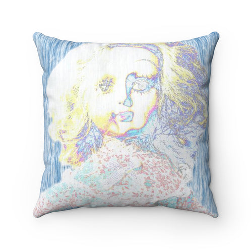 Blind Mime Studio - Smithfield Museum Doll - Spun Polyester Square Pillow