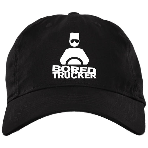 Bored Trucker Twill Unstructured Dad Cap - Velcro