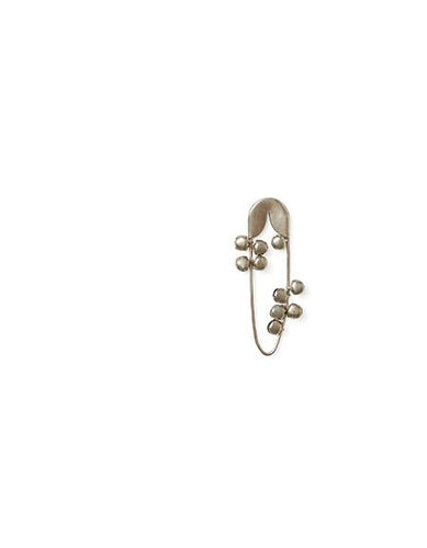 Silver Safety Pin with Bells Small