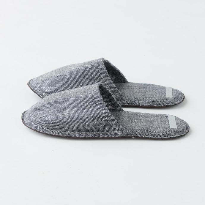 Linen Slippers Denim
