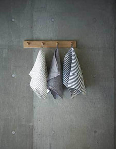 "Chambray Linen Towel M ""Grey"""