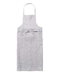 Full Apron Grey White Stripes