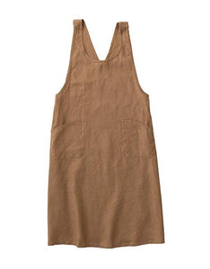 Linen Japanese Over-Apron Biscuit