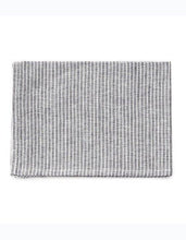 Linen Kitchen Cloth Grey White Stripes
