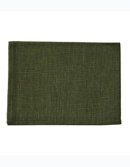 Thick Linen Kitchen Cloth Dark Green