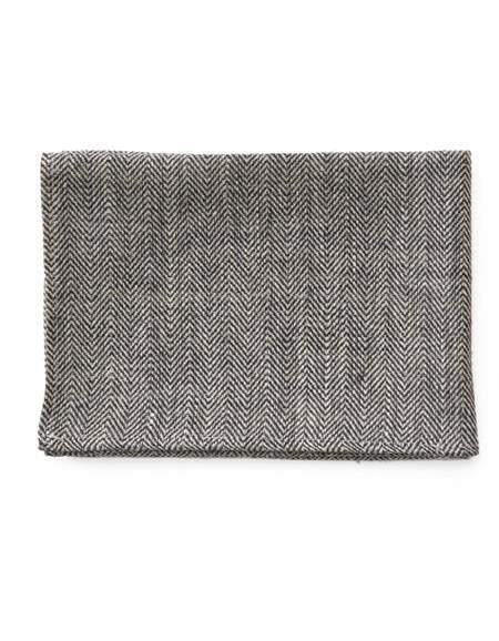 Thick Linen Kitchen Cloth Herringbone