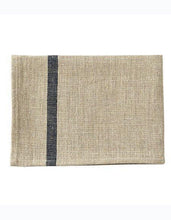 Thick Linen Kitchen Cloth Natural Navy Stripe