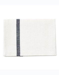 Thick Linen Kitchen Cloth White Navy