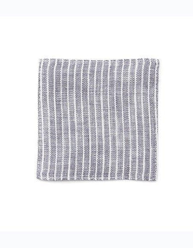 Linen Coaster Grey White Stripes
