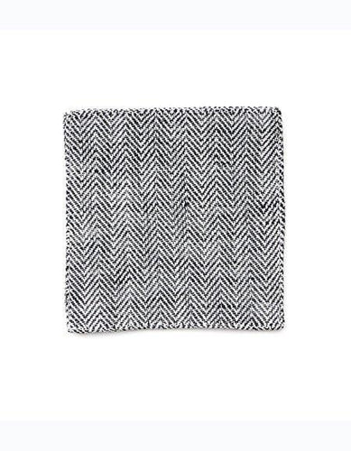 Linen Coaster Herringbone Black