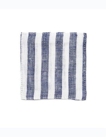Linen Coaster Navy Stripes
