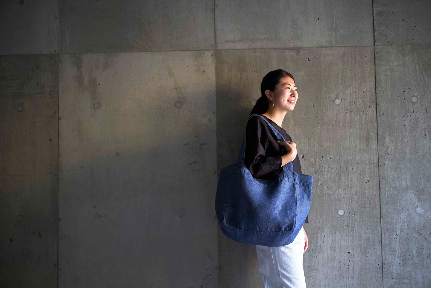 June Tote Bag Denim Blue
