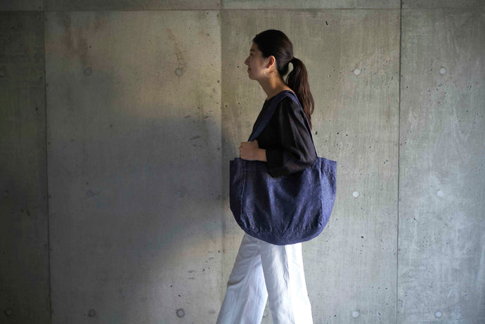 June Tote Bag Denim Navy