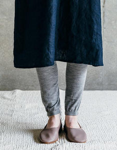 Wool Leggings Light Grey