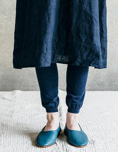 Wool Leggings Navy