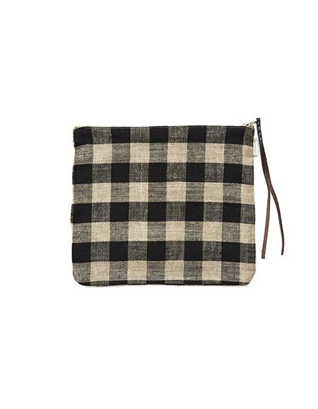 Canna Pouch Black Natural Checks Large