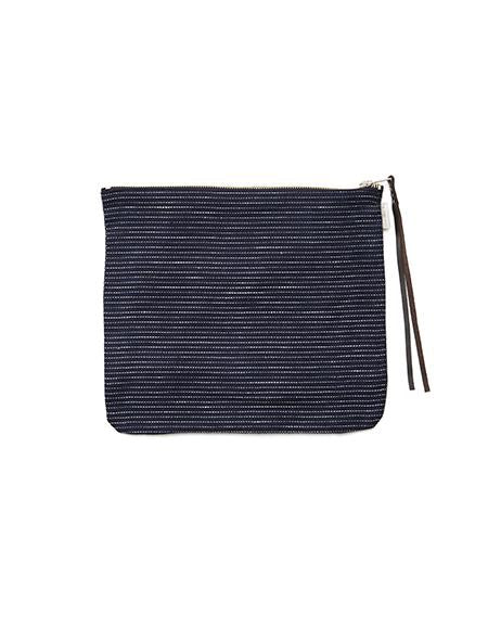 Canna Pouch Navy Pin Stripes Large