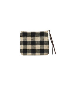 Canna Pouch Black Natural Checks Medium