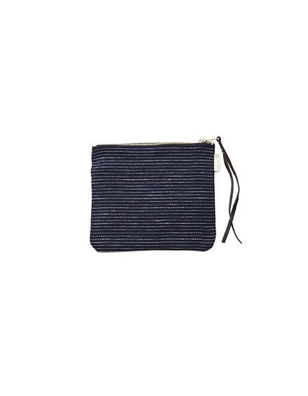 Canna Pouch Navy Pin Stripe Medium
