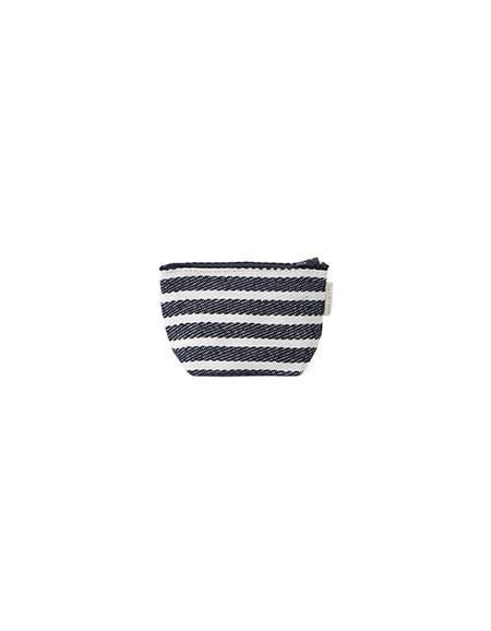 Tim Pouch White Navy Border