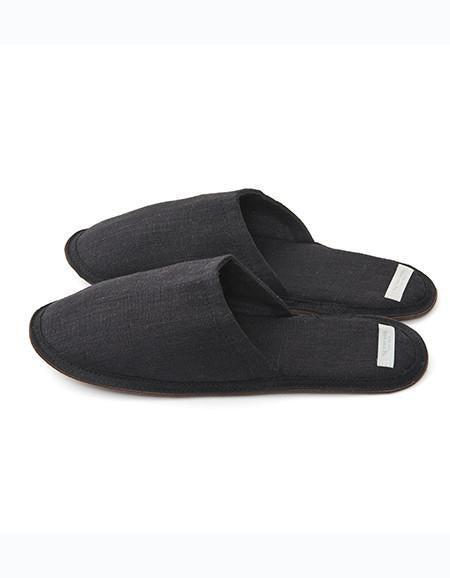 Linen Slippers Graphite