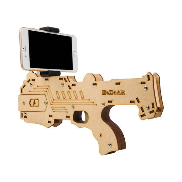Bluetooth AR Game Gun for Android iOS & iPhone Phones, Wooden Material