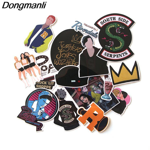 Riverdale Waterproof Sticker 15Pcs/set for Accessory/Home...