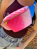 NEW IN Quilted TYE DYE Effect BELT BAG