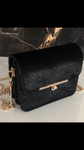Monaveen Faux Fur Felicity Bag BLACK