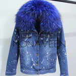 The Monaveen Fur Denim Jacket