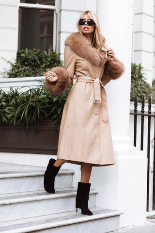 NEW IN the Monaveen MIA Luxury Winter Trench NUDE
