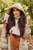 NEW IN Monaveen DONNA Luxury Sheepskin Down Jacket TAN/BEIGE