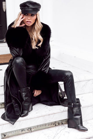 NEW IN the Monaveen MIA Luxury Winter Trench BLACK
