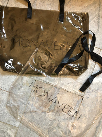 NEW IN Monaveen Vinyl WIPE CLEAN Bag