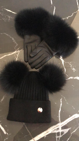 Monaveen Luxury Leather Fur Gloves