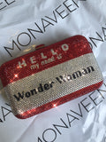 NEW IN Wonder Women Crystal Clutch bag