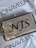 NEW IN Monagram Crystal Clutch Bag