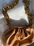 NEW IN Winnie Chunky Chain leather Bag TAN