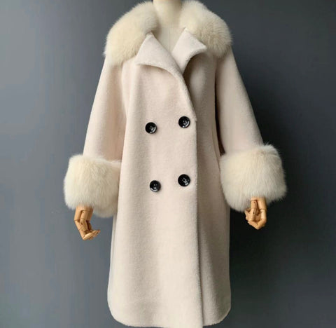 NEW IN Monaveen Teddy Grace Coat CREAM