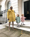 NEW IN Monaveen Luxury Faux Fur Penelope Coat YELLOW