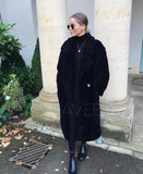 NEW IN Monaveen Long Teddy Coat BLACK