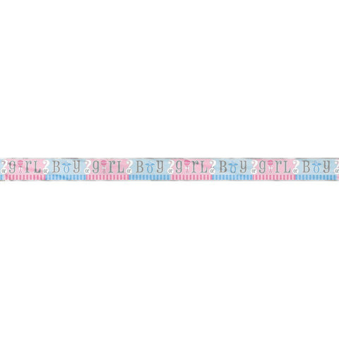 Gender Reveal 12ft Foil Banner