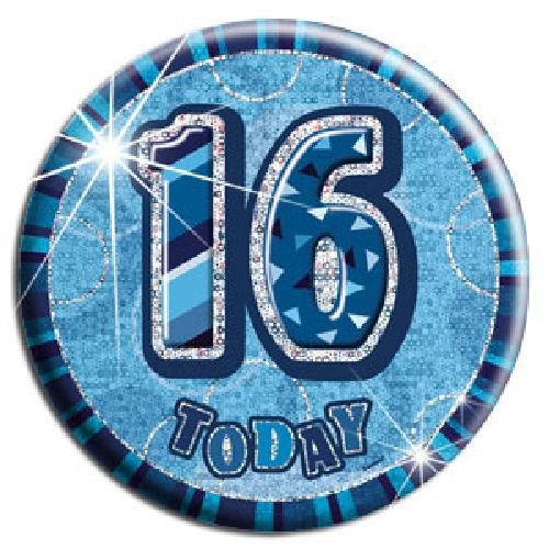 16 Today - Blue Big Badge - Party Perfecto