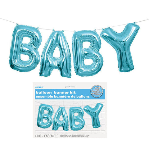 Baby Balloon Banner Kit (Blue)
