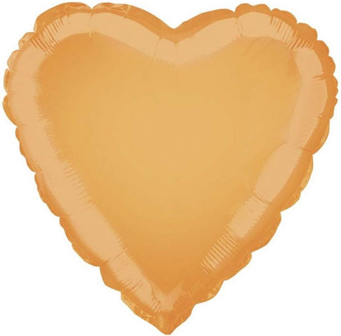 Orange Foil Heart Balloon