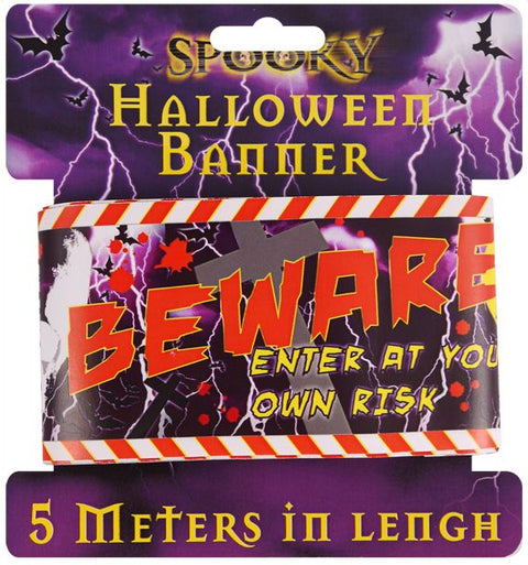 Halloween Warning Tape Banner