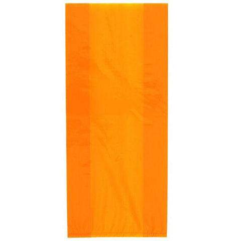 30 Orange Cellophane Gift Bags - Party Perfecto