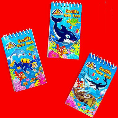 6 Sealife Notebooks