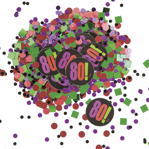 80! Birthday Cheer Confetti